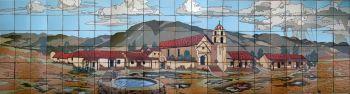 "San Buenaventura Mission Mural  132x36"" tile"
