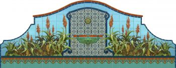 Shown as a wall fountain with Imperial deco basin