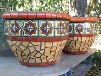 Belveder Mosaic Planters