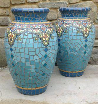Cleopatra Mosaic Urns