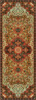 "Persian Rug Long-Gold  120 x 42"""