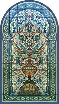 "Cordoba Tree of Life Panel 42 x 78"" - satin"