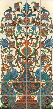 """Peacock White Arched Panel 24x48"""" tile"""