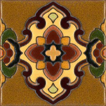 "6x6"" Isabella deco - satin - brown"