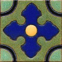 "3.6x3.6"" Lilac Dot deco combo-Green tile"