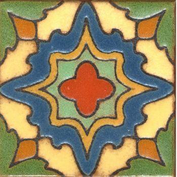 """3.6x3.6"""" Willow Dot deco satin-Cream tile"""