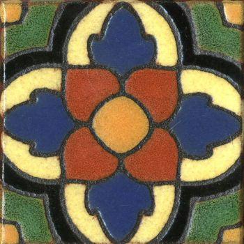 "3.6x3.6"" BSN Dot deco combo-Green tile"