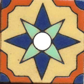 "3.8x3.8"" Catalina Dot deco gloss-Cream tile"