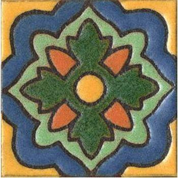 "3x3"" Aster Dot deco satin-Blue tile"