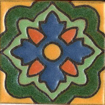 "3x3"" Aster Dot deco satin-Green tile"