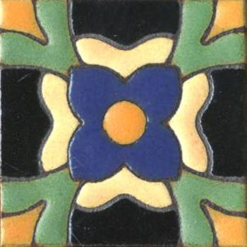 "3x3"" Poppy Dot deco combo-Cream tile"