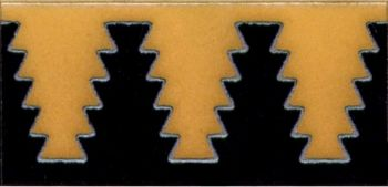"3x6"" Zig Liner deco combo-Gold tile pattern"