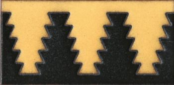 3 by 6 inch Zig Liner deco satin-Cream tile