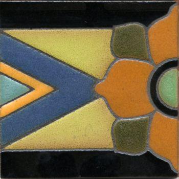 Savoy deco combo-Del Rey 5.5x5.5 tile pattern
