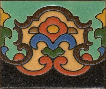 "5x6"" Trumpet Riser deco satin-Green tile"