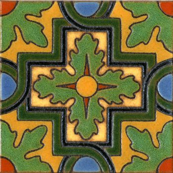 This Spanish revival pattern is our recreation of the historic Malibu Pottery de