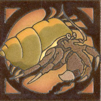 """6x6"""" Critter Crab left deco satin-Classic"""