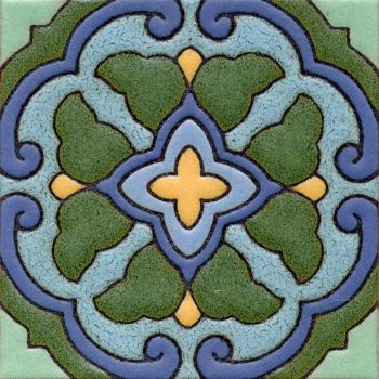 A geometric pattern created to compliment the tiles found on Catalina Island.