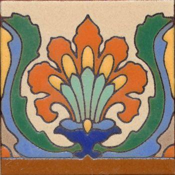 "Algers Deco gloss 6x6"" tile pattern"