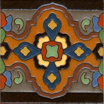 "Loggia Full deco satin-Classic 6x6"" tile pattern"