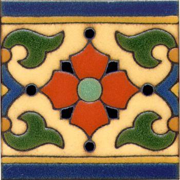 "Monterey deco satin- Classic 6x6"" tile pattern"