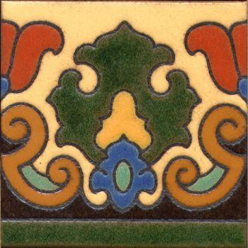 """Pierpont deco satin-SB 6x6"""" tile pattern"""