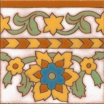 "Robbia deco gloss-Classic 6x6"" tile pattern"