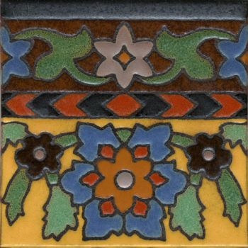 "Robbia deco satin-SB 6x6"" tile pattern"