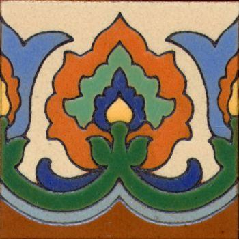 "Scepter deco gloss Blue 6x6"" tile pattern"