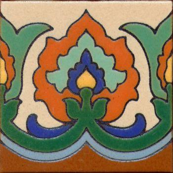"Scepter deco gloss Green 6x6"" tile pattern"