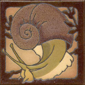 "6x6"" Critter Snail right deco satin-Classic tile"