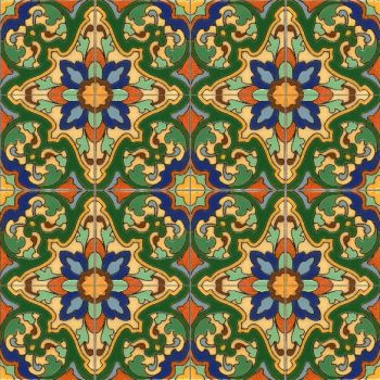 This design was created after discovering a tile shard in central Mexico and cre