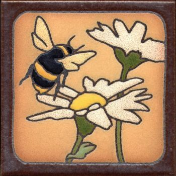 """6x6"""" Bee left deco satin-Classic tile"""