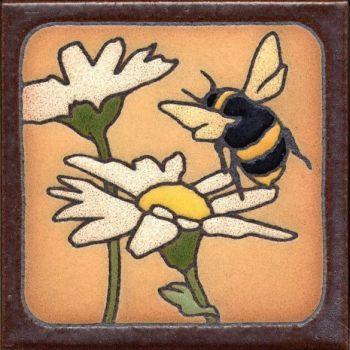 "6x6"" Bee right deco satin-Classic tile"