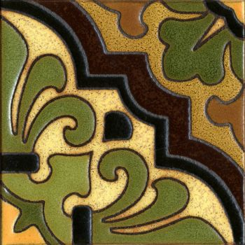 A bold, geometric pattern in the English gothic style.