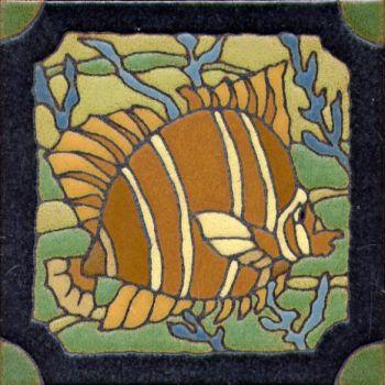 """6x6"""" DH Fish left deco satin-Classic tile"""