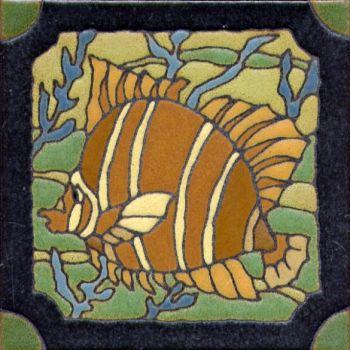 "6x6"" DH Fish right deco satin-Classic tile"