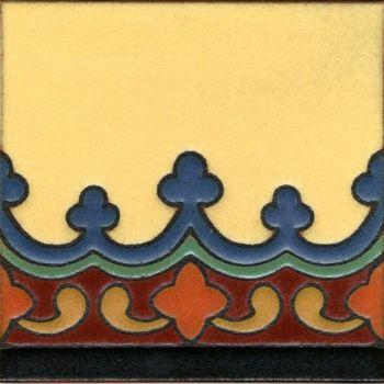 "Imperial Demi deco satin-SBblue 6x6"" tile pattern"