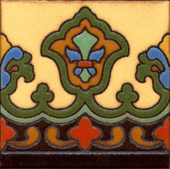 "Imperial deco satin- SBgreen 6x6"" tile pattern"