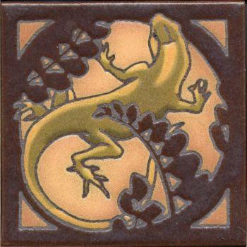 "6x6"" Critter Lizard left deco satin-Classic"