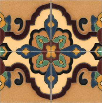 "Loggia deco satin-Tan (4 Tile Repeat) 12x12"""