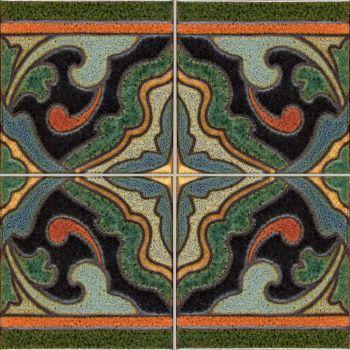"Presidio deco satin-A&C  (4 Tile Repeat)  12x12"" tile pattern"