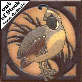 "6x6"" Critter Quail right deco satin-Classic"