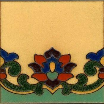 "Riviera Demi deco satin 6x6"" tile pattern"