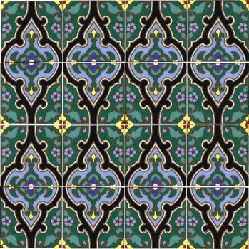 A Malibu Potteries inspired floral pattern.