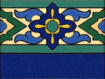 "6 x 8"" Vangard Deco Liner Gloss Blue"