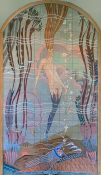 This mural was designed by John Gabriel Beckman in 1929 for the Avalon Casino, a