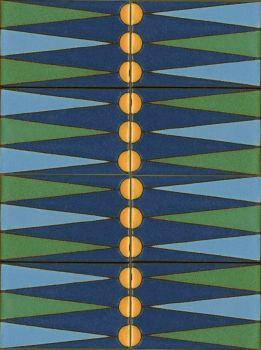 """X Backgammon Set Blue 12x16"""" tile"""