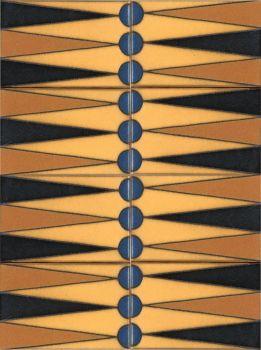 "X Backgammon Set Cream 12x16"" tile"