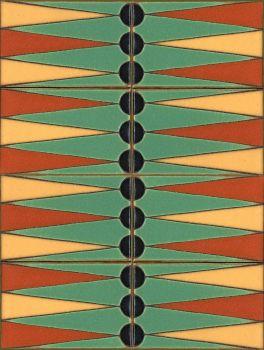 """X Backgammon Set Mint 12x16"""" tile"""